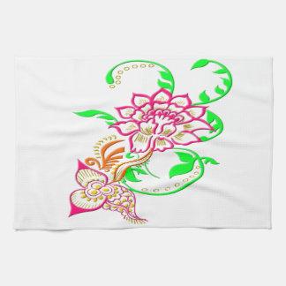 Tattoo Flower Hand Towel