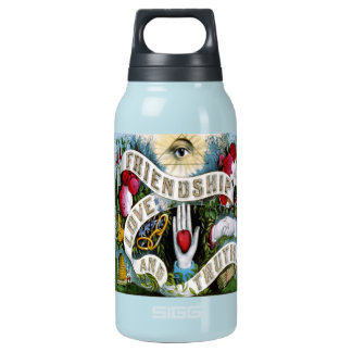 tattoo friendship love and truth teal insulated water bottle