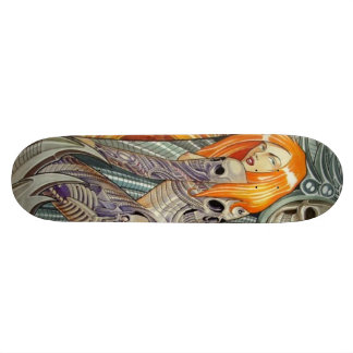 tattoo girl skateboard