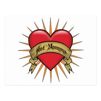 Tattoo Heart Hot Momma Postcard