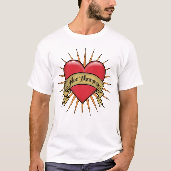 Tattoo Heart Hot Momma T-Shirt