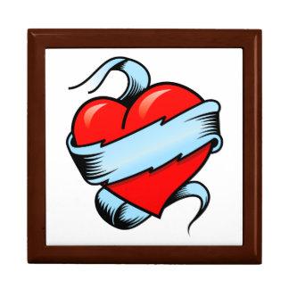 Tattoo Heart Jewelry Box