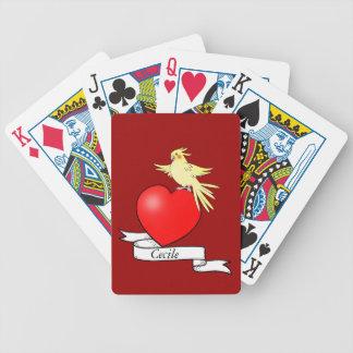 Tattoo Heart with Bird - Card Deck