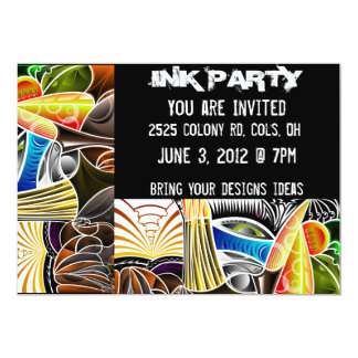 Tattoo Ink party Invitations