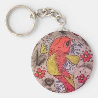 Tattoo Inspired Koi Fish Keychain