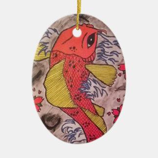 Tattoo Inspired Koi Fish Ornament