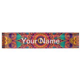Tattoo Kaleidoscope Fractal Desk Name Plate