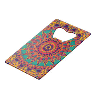 Tattoo Kaleidoscope Fractal II + your idea Credit Card Bottle Opener