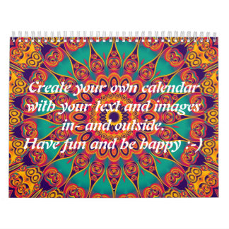 Tattoo Kaleidoscope II + your text & images Calendar
