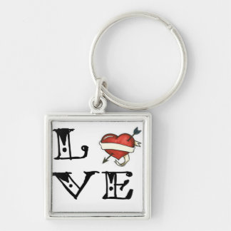 Tattoo Love Heart Key Chain