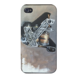 """Tattoo machine"" oil painting by Trent Valleau iPhone 4 Covers"