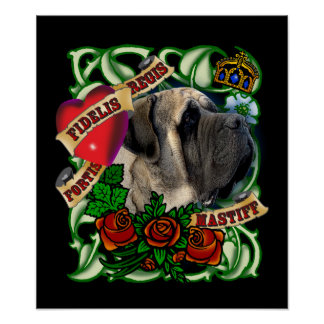 Tattoo Mastiff Poster