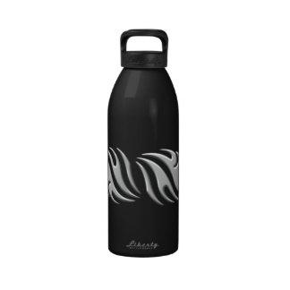 Tattoo metallic water bottle
