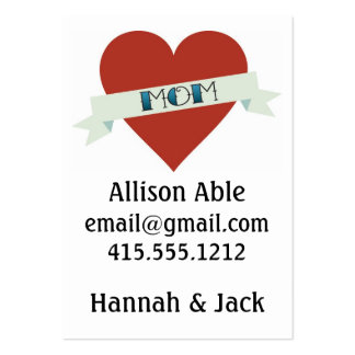 Tattoo Mom Calling Card Large Business Cards (Pack Of 100)