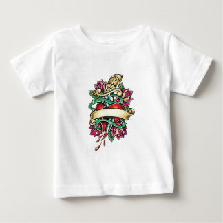 Tattoo murmur of a heart with the knife stuck baby T-Shirt