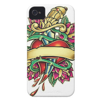 Tattoo murmur of a heart with the knife stuck iPhone 4 cover