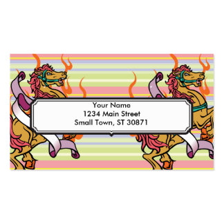tattoo of Crazy Horse on orange flames Business Card