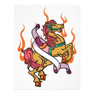 tattoo of Crazy Horse on orange flames Letterhead