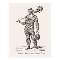Tattoo of priest, Marqueses Islands Postcard
