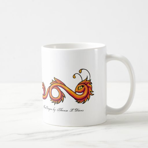 Tattoo Orange Fire Dragon, Fire Dragon by There... Mugs