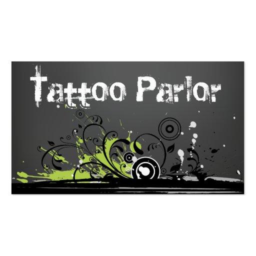 Tattoo parlor business card templates zazzle for Tattoo business cards templates free
