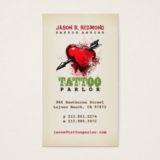 Tattoo Parlor Vintage Business Card
