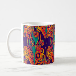 Tattoo Pattern Art - flames & circles Coffee Mug