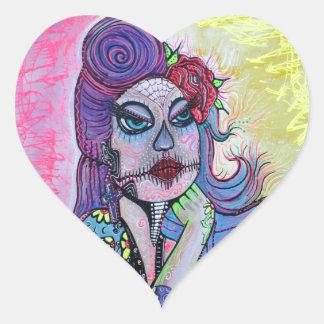 Tattoo Pin Up Girl Heart Sticker