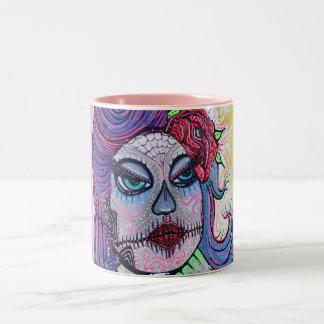Tattoo Pin Up Girl Two-Tone Coffee Mug