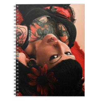 Tattoo Pin Up Spiral Note Book