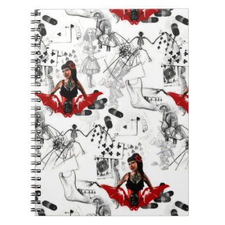 Tattoo Pin Up Note Book