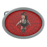 Tattoo Pin Up Oval Belt Buckles