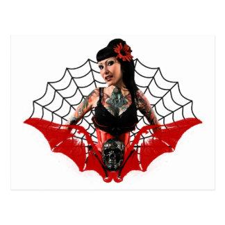 Tattoo Pin Up Postcard