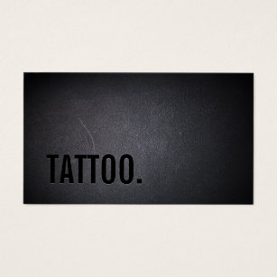 Tattoo business cards templates zazzle tattoo professional black bold minimalist business card fbccfo Gallery