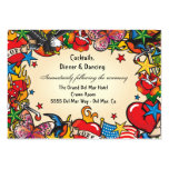Tattoo Reception Enclosure Card Insert Large Business Card