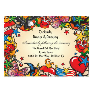 Tattoo Reception Enclosure Card Insert Large Business Cards (Pack Of 100)