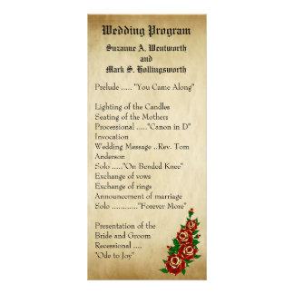 Tattoo Red Rose Wedding Programs, Tattoos, Roses Rack Card