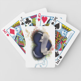 Tattoo Ribbon Heart Playing Cards