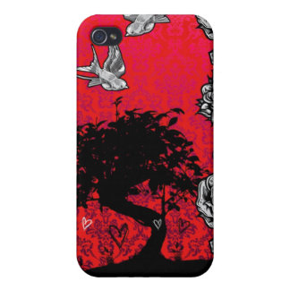 Tattoo Rose Bonsai Tree of Love Swallow Iphone 4 iPhone 4 Covers