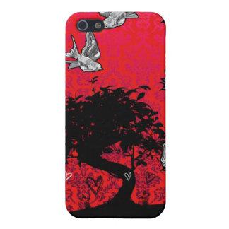 Tattoo Rose Bonsai Tree of Love Swallow Iphone 4 iPhone SE/5/5s Case