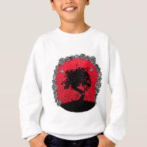 Tattoo Rose Bonsai Tree of Love Swallow Sweatshirt