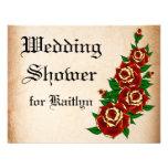 Tattoo Rose Bridal Shower Invite