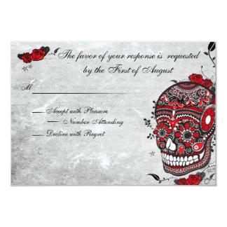 Tattoo Rose & Fluers Muerte Skull Reception Card