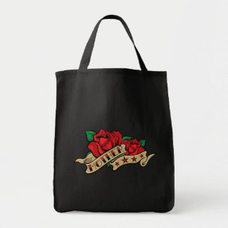 Tattoo Rose Mother Illustration. Canvas Bags