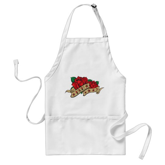 Tattoo Rose Mum Adult Apron