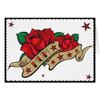 Tattoo Rose Mum Cards