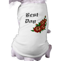 Tattoo Roses Best Dog Shirt