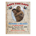 Tattoo Save the Date Postcards