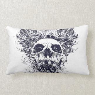 Tattoo Scrawl Skull Pillow