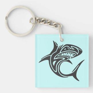Tattoo Shark Single-Sided Square Acrylic Keychain